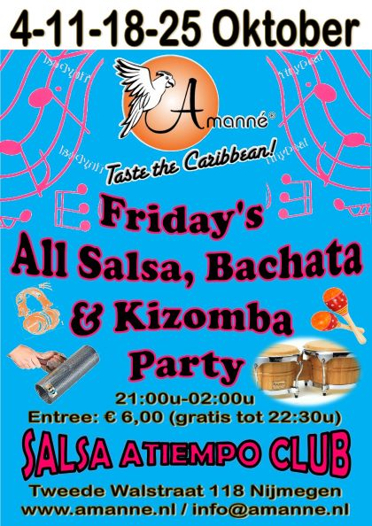 Friday's All Salsa, Bachata & Kizomba Party